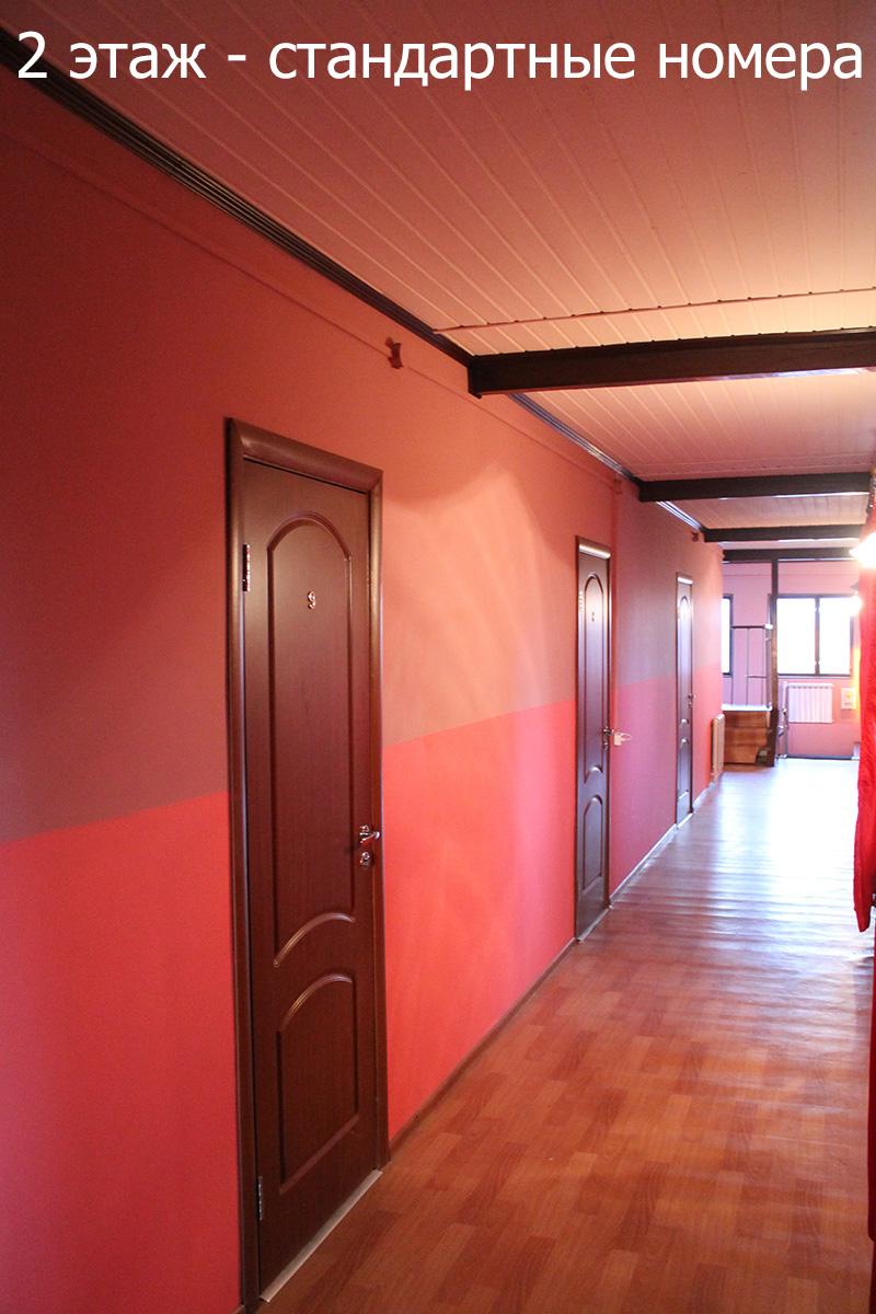 Просторные коридоры мотеля на Ленинградском шоссе